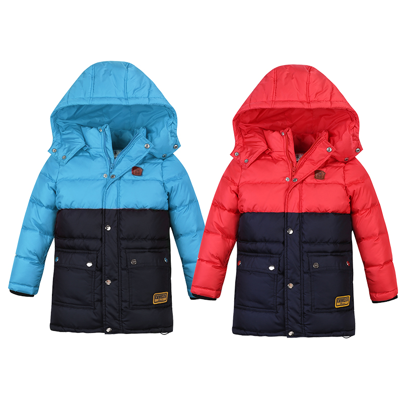 2017 Boys Winter Jackets and Coats Boys Clothes Down Coats Hooded Brand Children Clothing Kids feather jacket boys fleece jackets solid coat kid clothes winter coats 2017 fashion children clothing