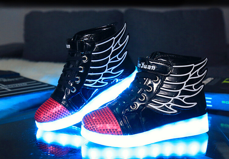 New USB Charging Led Children Shoes With Light Led Boys Girls Kids Shoes