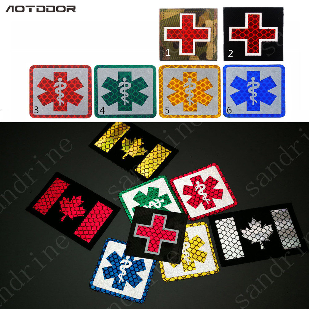 Entertainment Memorabilia Clever Cross Medical Rescue Ir Chapter Reflective Army Badge Tactical Morale Embroidered Patches Appliques Hoop&loop Fast Color Music Memorabilia