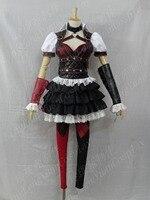 [Настроить] Аниме! Бэтмен Arkham City: Харли квиннс месть Рыцарь Костюм милое платье форма косплэй Бесплатная доставка