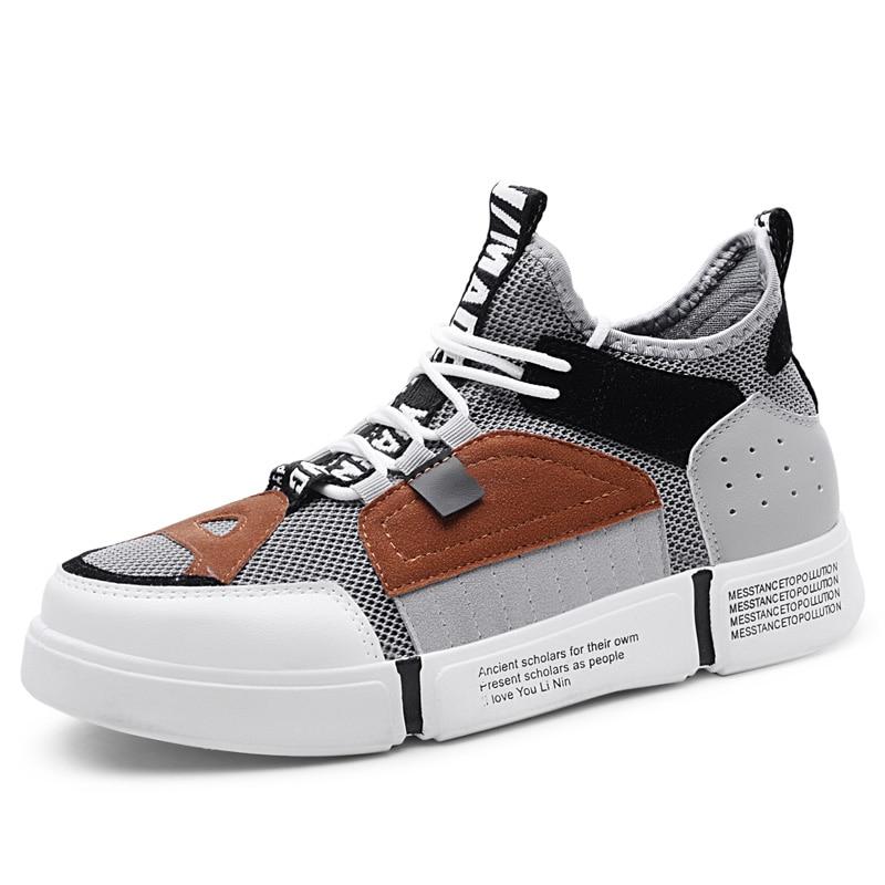 Classic Synthetic Fiber Shoes Men Platform Lace-Up School Boy Casual Shoes Simple Style Match Men Spring Autumn Shoes BH-A0125