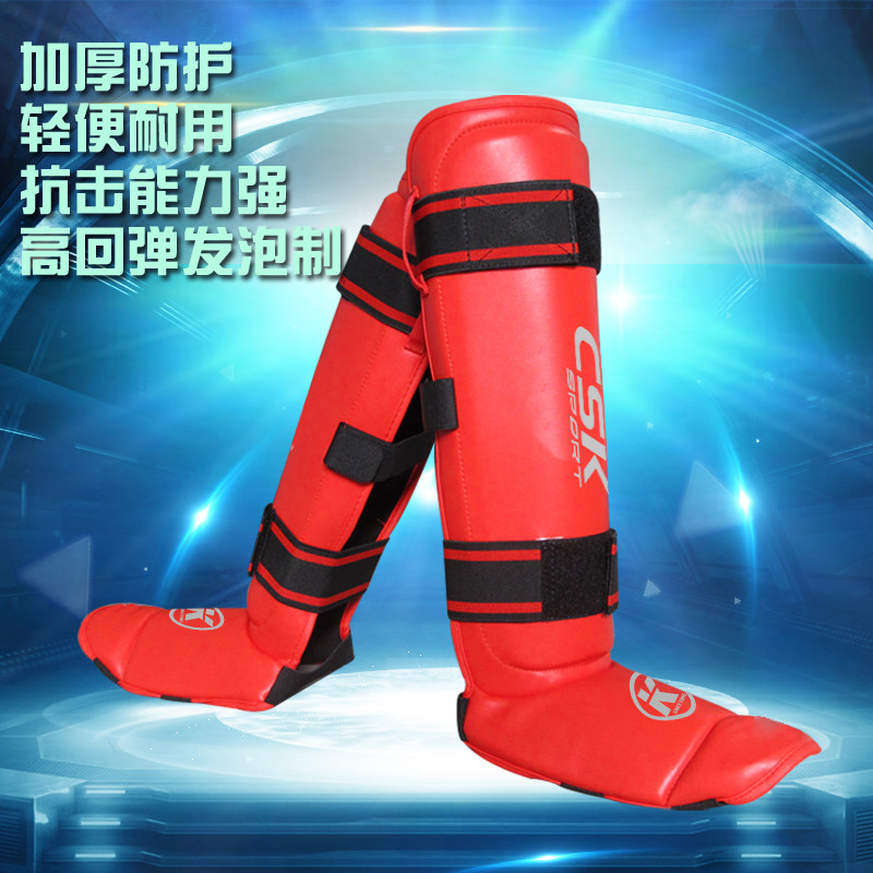 Shin Guards kick boxing protector Sanda taekwondo boxing Leggings Ankle protection for MMA Muay thai shin pads