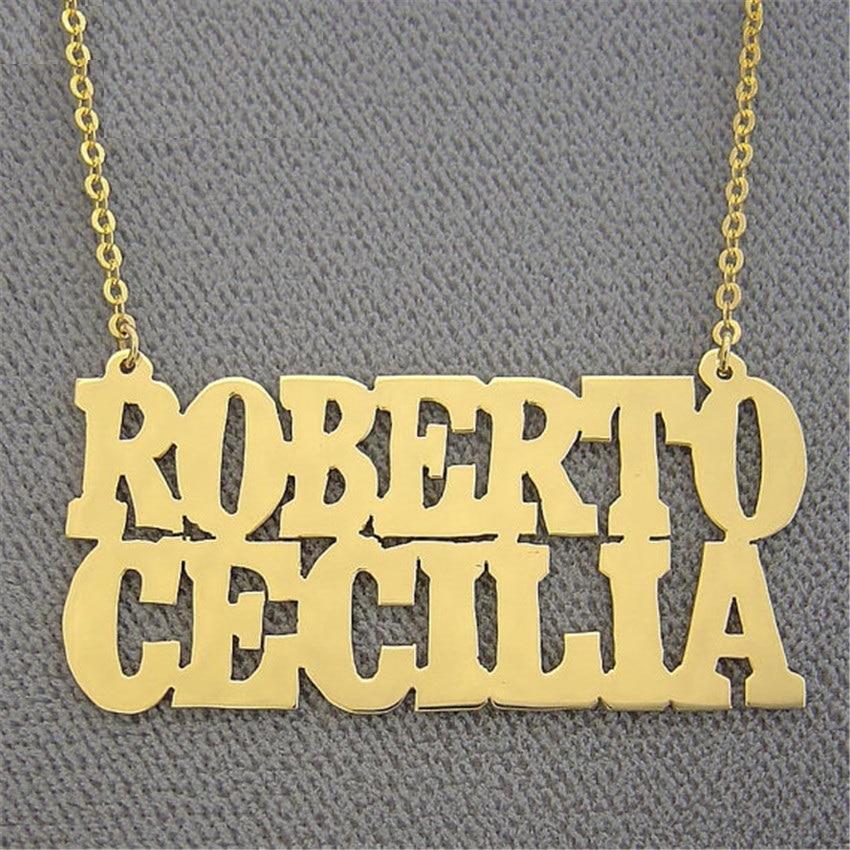 f347a20c2688 Cadena de oro Gargantilha personalizada nombre collar hecho a mano de  joyería de plata colgantes de corazón mejor amigo regalos de dama de honor