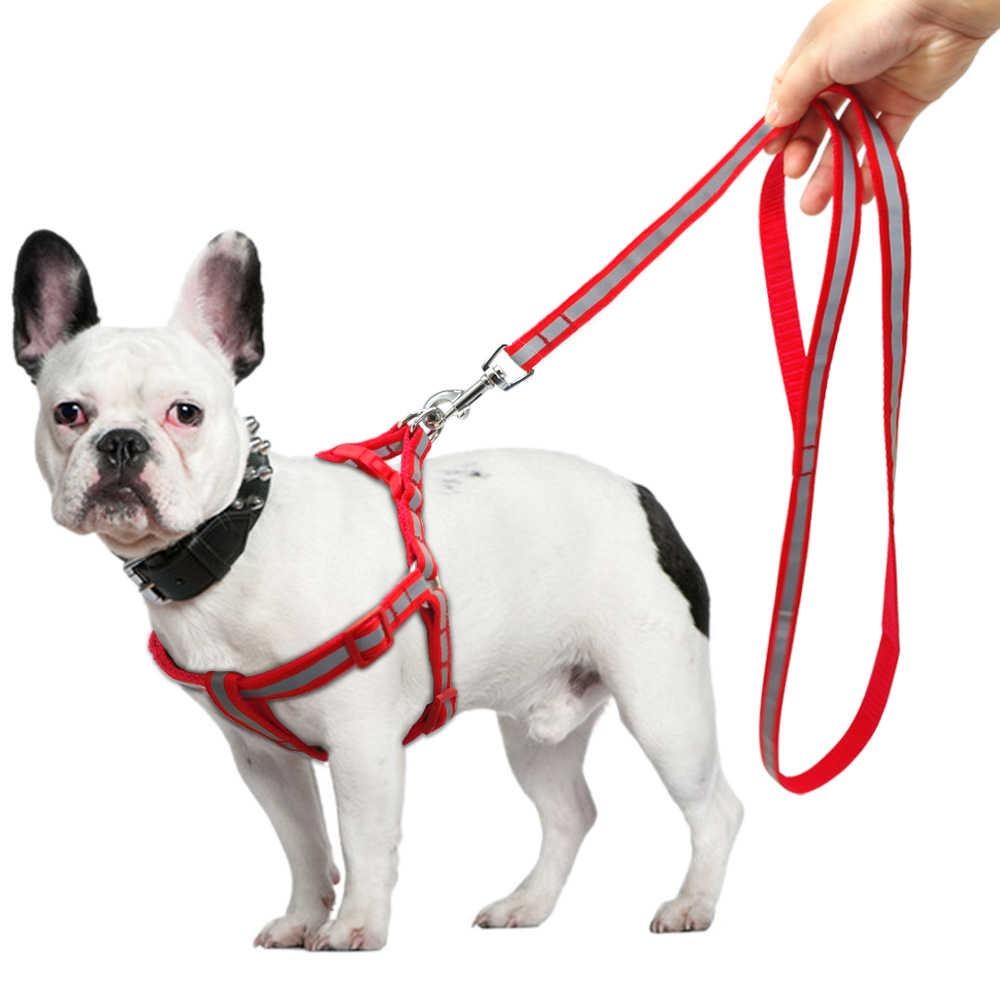 Chó Cảnh Nhỏ Dây Cổ Nylon Phản Quang Dây Xích Dẫn Bộ Chó Con Dành Cho Giống Chó Trung Bình Con Chó Con Chihuahua Yorkie Harnais Petit Chiến