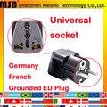 Универсальный Черный медь абс AU США ВЕЛИКОБРИТАНИИ в ЕС AC Power Plug Германия Французский Путешествия Дом Конвертер Адаптер