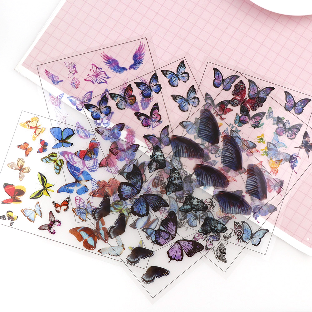 5pc Mix Style Butterfly Flaps Transparent Material With Use Of Epoxy Mold Making Tool Filling Phone Case For DIY