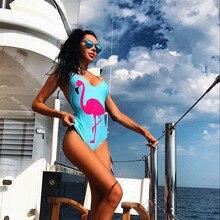 2019 New Explosive Swimwear High Elasticity Flamingo Pattern  Bathing Suit For Adult Women Quality Slimming Bikini AA163