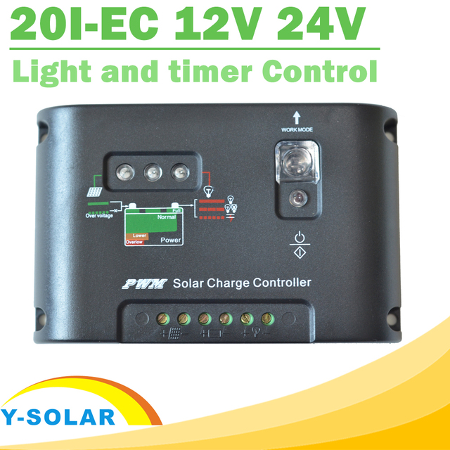 Solar charge regulator 20a light and timer control simple solar charge regulator 20a light and timer control simple automatic temperature compensation solar power charge controller sciox Image collections