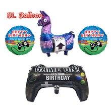 Jogo folha de alpaca balões llama hélio feliz aniversário decorações de festa jogo deles fontes de festa globos crianças brinquedos