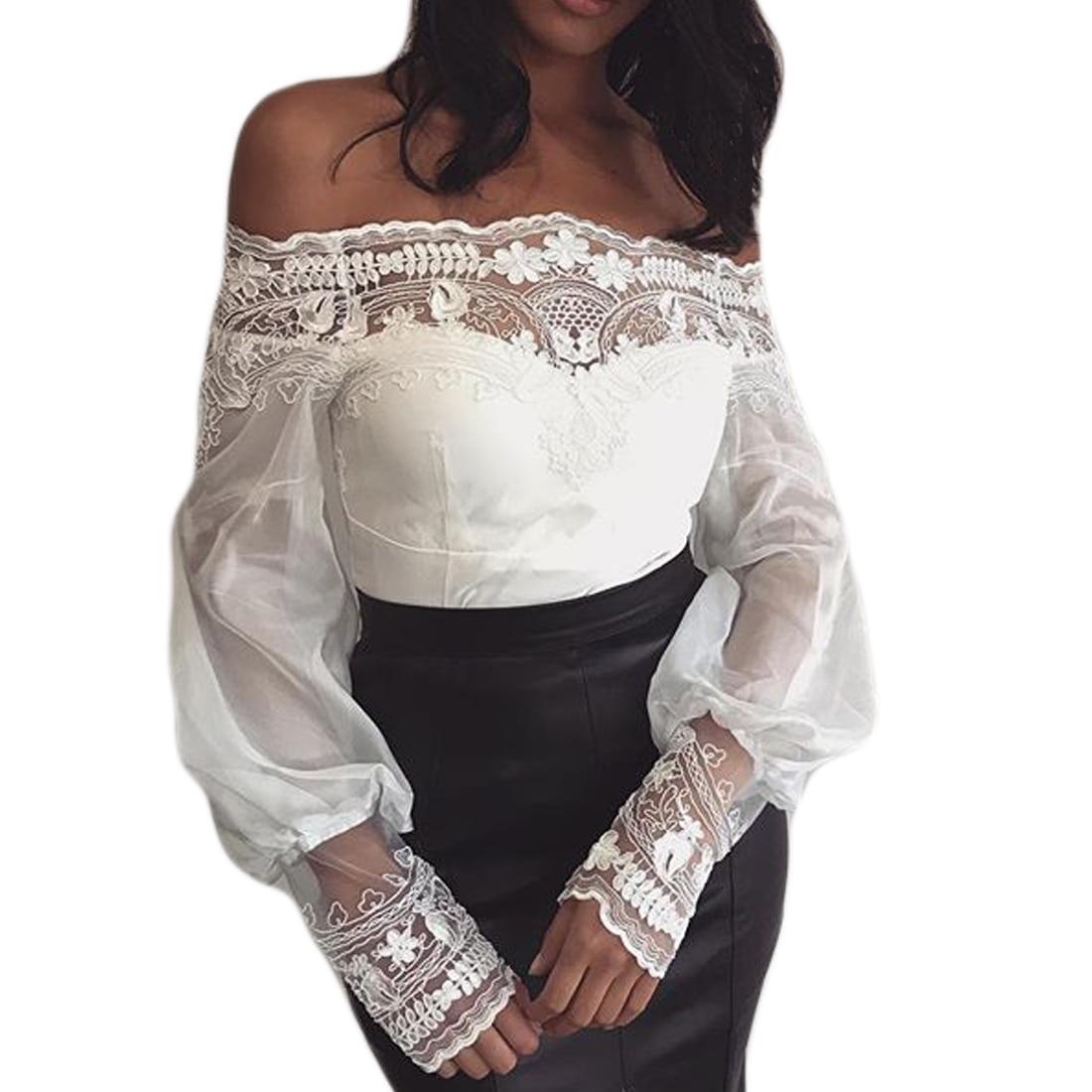 1dd731de29f Yjsfg дом модные женские туфли шифоновая кружевная блузка с открытыми  плечами Slash Средства ухода за кожей