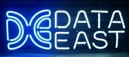DE DATA EAST Glass Neon Light Sign Beer Bar