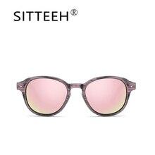 SITTEEH gafas de Sol de madera del grano Retro gafas de sol para hombres mujeres lunette de soleil feminino oculos gafas de sol hombre mujer SI2