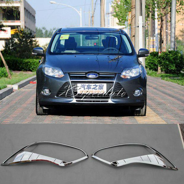 ABS Plastic Chromed Head Light Cover For Ford Foucs 2012+