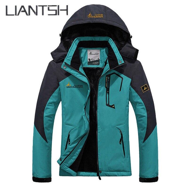 Meilleur laine Liner chaud hommes Camping randonnée en plein air veste d'hiver femmes, unisexe coupe-vent imperméable coupe-vent femmes veste en plein air - 3