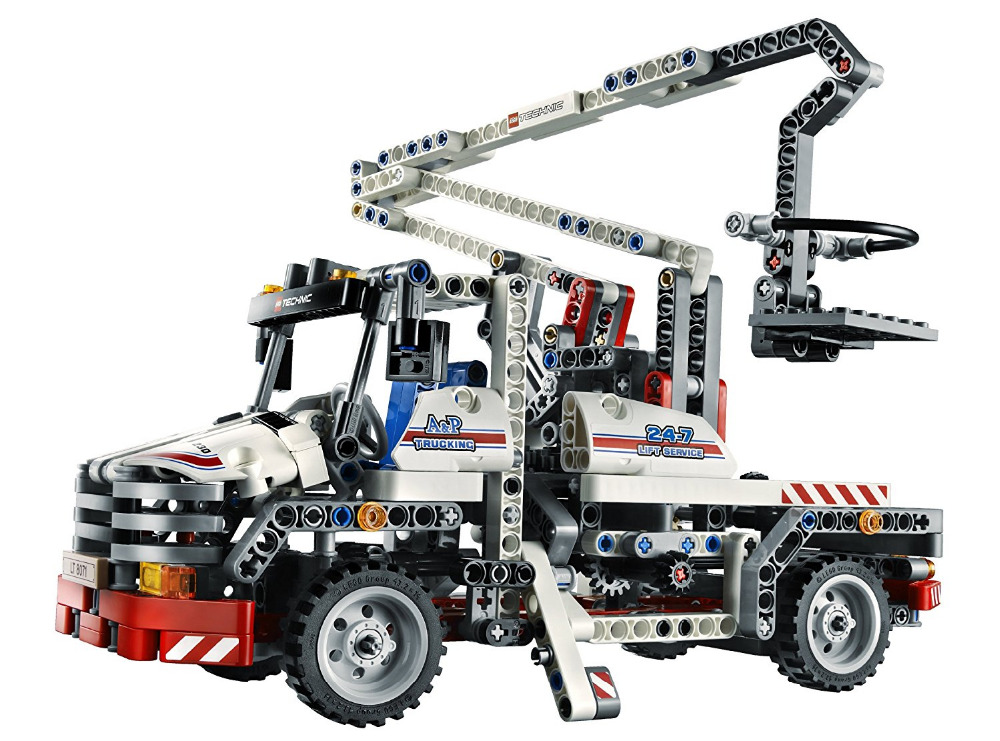 Decool Technic City Series Bucket Truck Building Blocks Bricks Model Kids Toys Marvel Compatible Legoe lepin city creator 3 in 1 beachside vacation building blocks bricks kids model toys for children marvel compatible legoe