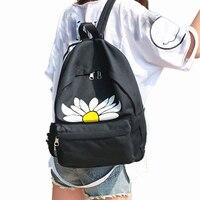 Verse Bloem Canvas School Rugzak Vrouwen Schooltas Back Pack Dames Knapzak Reistassen voor Tiener Meisjes Groothandel noJE22