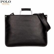 VIKUNJA POLO Einfache Design Leder Männer Aktentasche Mit Metallgriff Geschäftsleute Dokumententasche Klassische Büro Herren Taschen Männer Handtasche