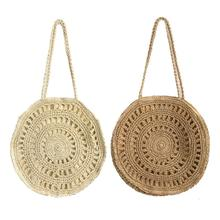 Ins Popular Flower Paper Rope Woven Shoulder Bag Fashionable Ladies Beach Bag Summer Holiday Totes Straw Handmade Women Bags 2018 handmade summer portable women s flower beach bag straw woven bag