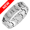 Channah 2017 Men Silver Heavy Large Size Stainless Steel Bio Healing Magnetic Bracelet Magnets Gifts Bangle Free Shipping Charm
