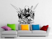 Deadpool Wall Decal Comics Antihero Vinyl Sticker Comic Book Character Home Interior Decor For Living Room Cool Murals A401