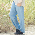XianRan Mulheres Linho Calças Pockets Soltas Casual Longo Plus Size Trouses Alta Qualidade Frete Grátis