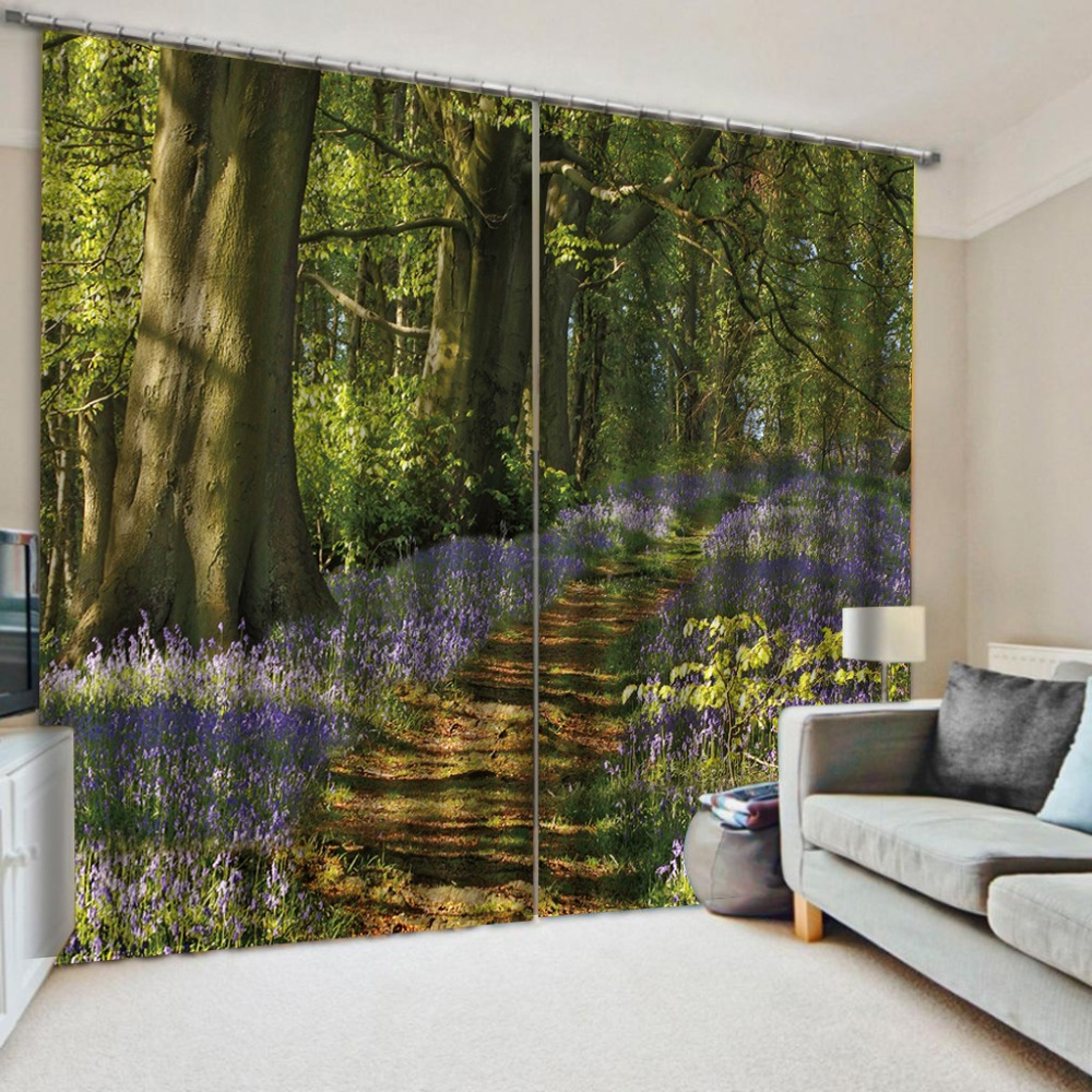 Customized size Luxury Blackout 3D Window Curtains For Living Room Landscape Scenery Beauty Digital Photo Printing Blackout Customized size Luxury Blackout 3D Window Curtains For Living Room Landscape Scenery Beauty Digital Photo Printing Blackout