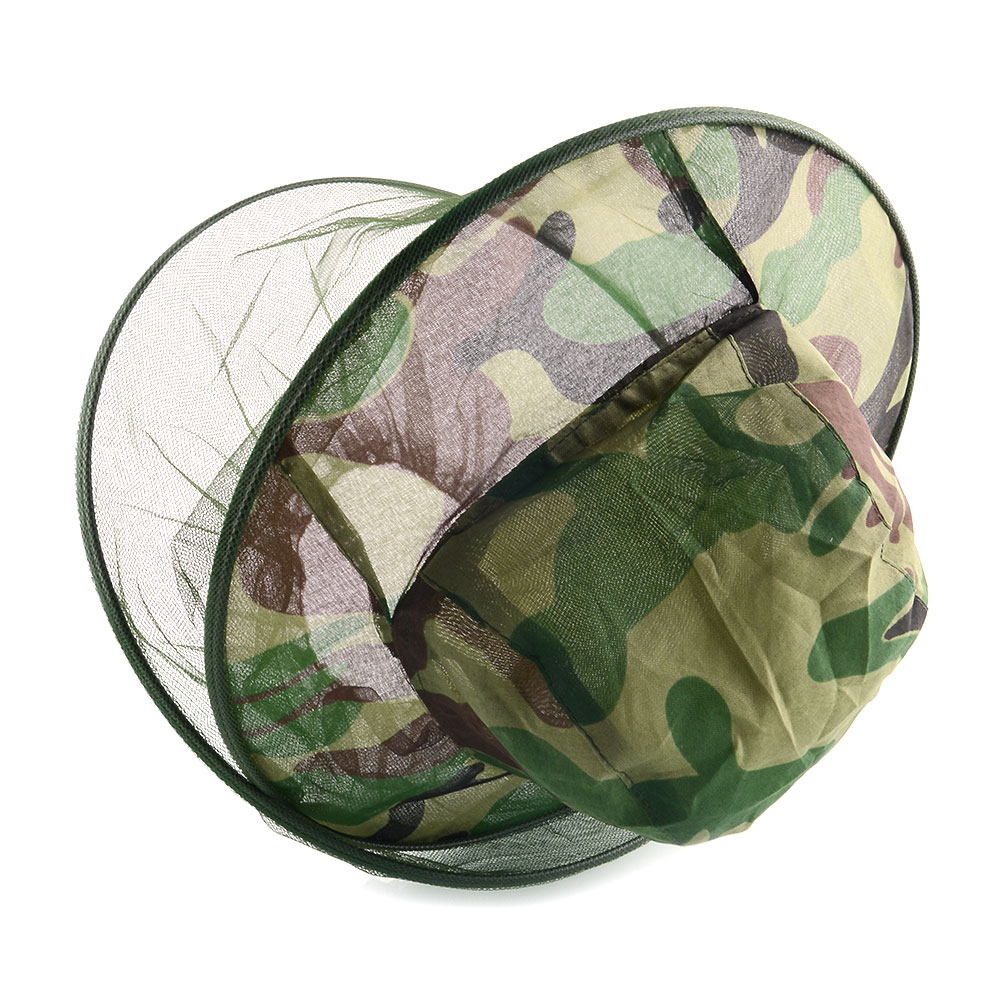 relefree Camouflage Mosquito Cap Midge Fly Insect Bucket Hat Fishing Camping Field Jungle Mask Face Protect Cap Mesh Cover New