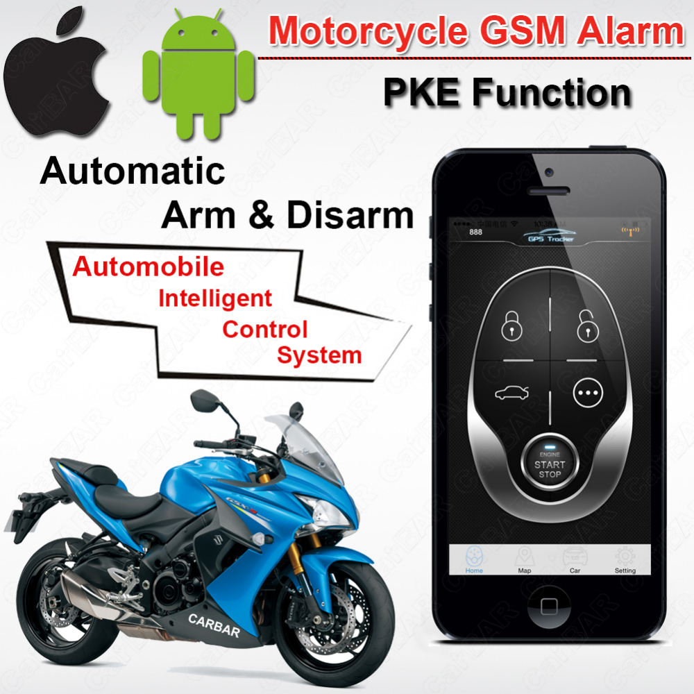 Gps Tracking Systems >> IOS Android Waterproof Motorcycle Motor GSM GPS Tracking Alarm with PKE Function Automatic ARM ...
