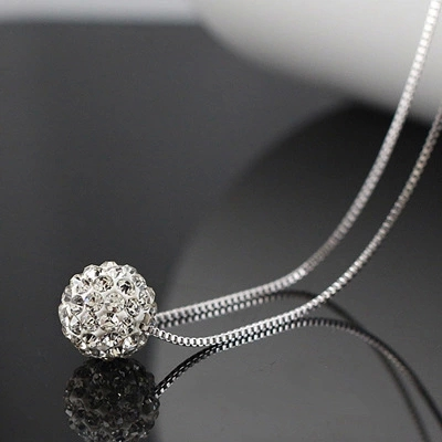 New 2016 Trendy Fashion Shambhala Short Chain 925 Sterling Silver Necklaces for Women Hot Sell Jewelry Gift