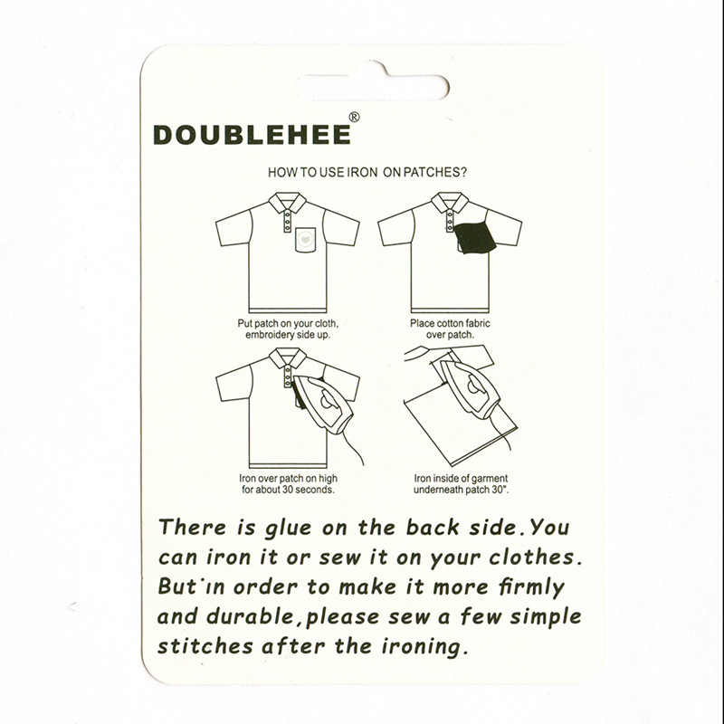 DOUBLEHEE Cartoon Many Cat Dog Animal Patches Embroidered Iron On Patch For Clothing Sticker Paste For Clothes Bag Pants in Patches from Home Garden