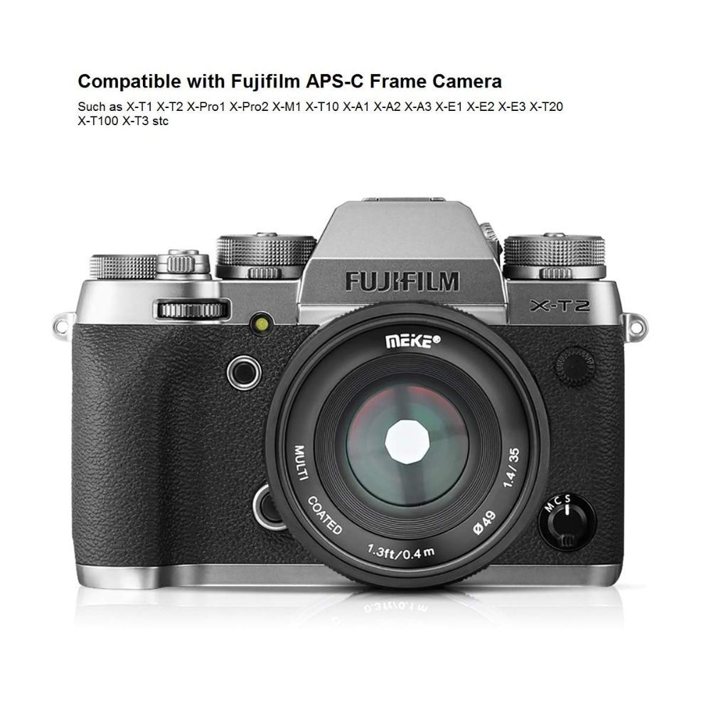 Meike 35mm f1.4 lentille de Mise Au Point Manuelle pour Sony e-mount A7R A7S A6500 A7/Fuji X-T2 X-T3/Canon EOS-M M6/M4/3 Appareil Photo Hybride + APS-C - 3