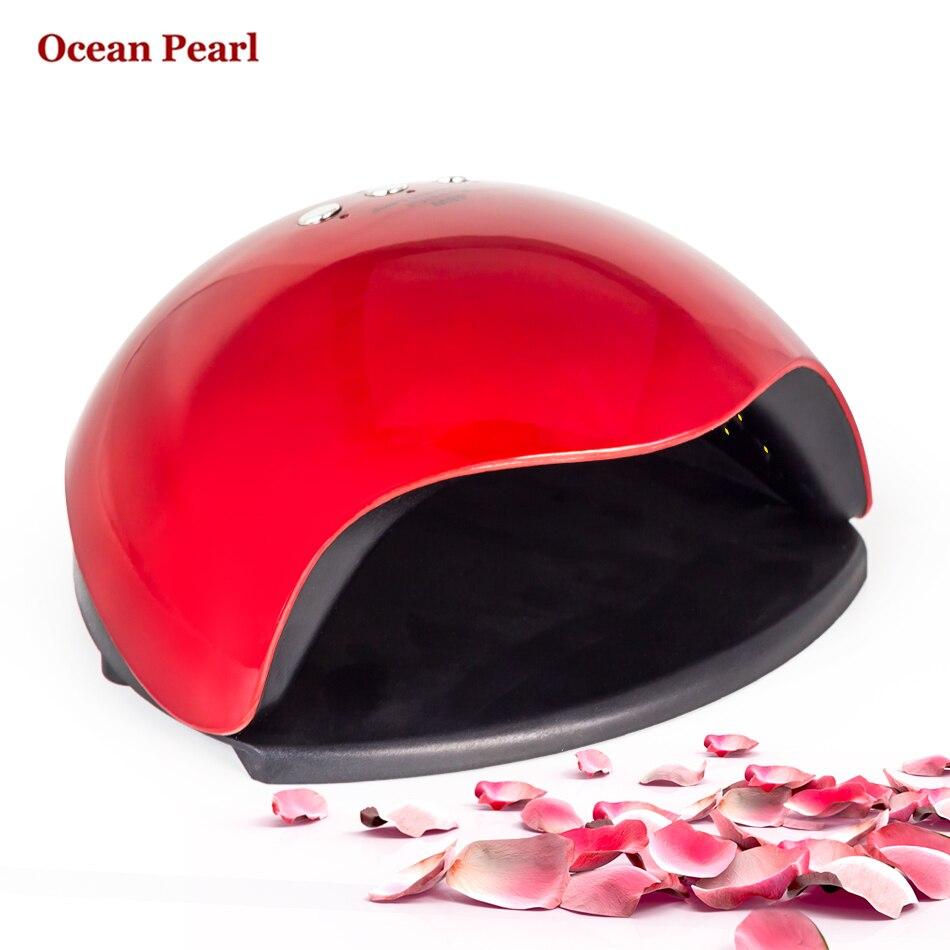 OCEAN PEARL 48W UV Nail Dryer <font><b>LED</b></font> Lamp UV Lamp Double light <font><b>motion</b></font> sensor Manicure Nail Lamp UV Gel Polish Nail Art Tools sun5x