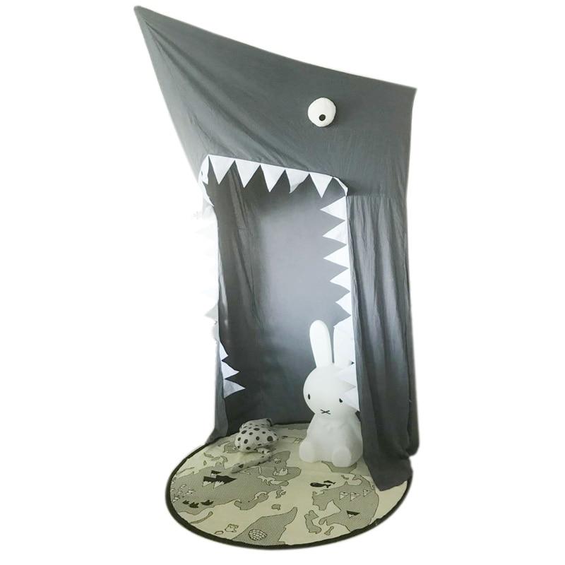 INS kamimi zwart Shark Canopy klamboe Kids Bed Netto babykamer decor - Beddegoed - Foto 5
