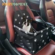 Paws Pet Dog Carrier Folding Car Seat Pad Sikker Carry Puppy Bag Bil Reise Tilbehør Vanntett Dog Seat Bag Basket NY