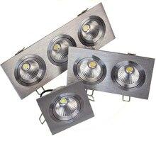 Супер яркий светодиодный встраиваемый потолочный светильник квадратный светильник COB 7 Вт 12 Вт 24 Вт 36 Вт Светодиодный точечный светильник декоративный светодиодный светильник AC 110 В 220 В