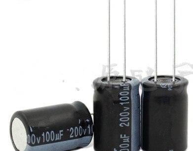 200V 100UF 100UF 200V   Electrolytic Capacitor  volume 13*21 best quality New origina