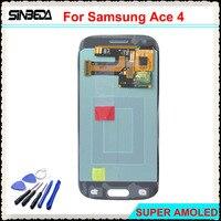 Sinbeda Super AMOLED HD 4 3 LCD For Samsung Galaxy Ace 4 SM G357 G357FZ LCD