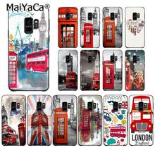 MaiYaCa london bus england telephone Big Ben Phone Case for Samsung Galaxy S9 plus S7 edge S6 edge plus S5 S8 plus case(China)