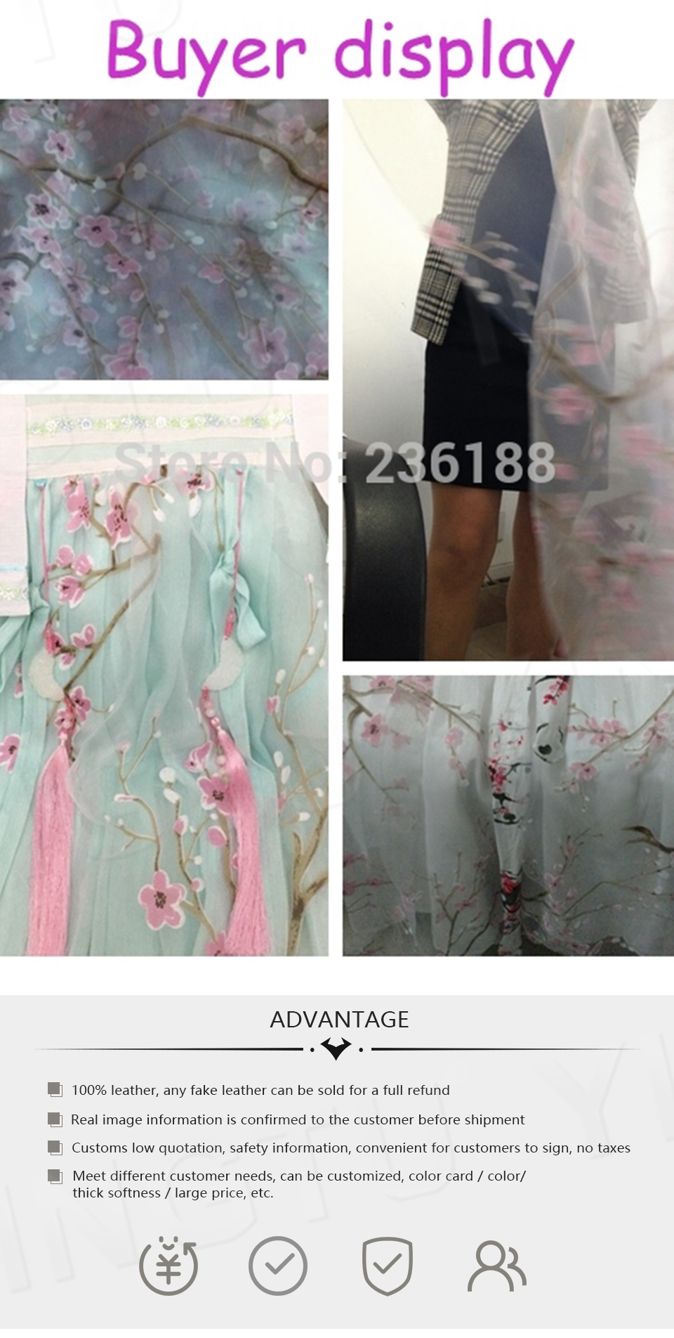 Details about  /PINK /& BLACK Mix Fabric Organza 5 /& 7 Flowers 15-75mm Manor House 2 Pack Choice