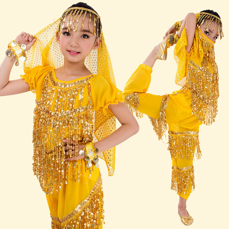 New Design Girls Belly Dance Costume Child Dance Costumes Bollywood Indian Dance Dresses for Kids Belly Dancewear