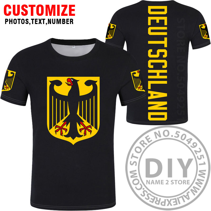 Image 3 - GERMANY t shirt free custom diy name number deu t shirt nation flag de country german bundesrepublik college print photo clothes-in T-Shirts from Men's Clothing