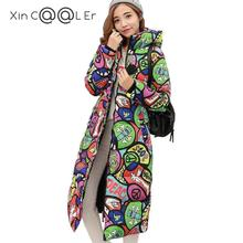Attractive!2017 Free Shipping New Autumn Winter Coat Design Padded Down Cotton Plus Size Slim Jacket Hooded Zipper Women Fashion