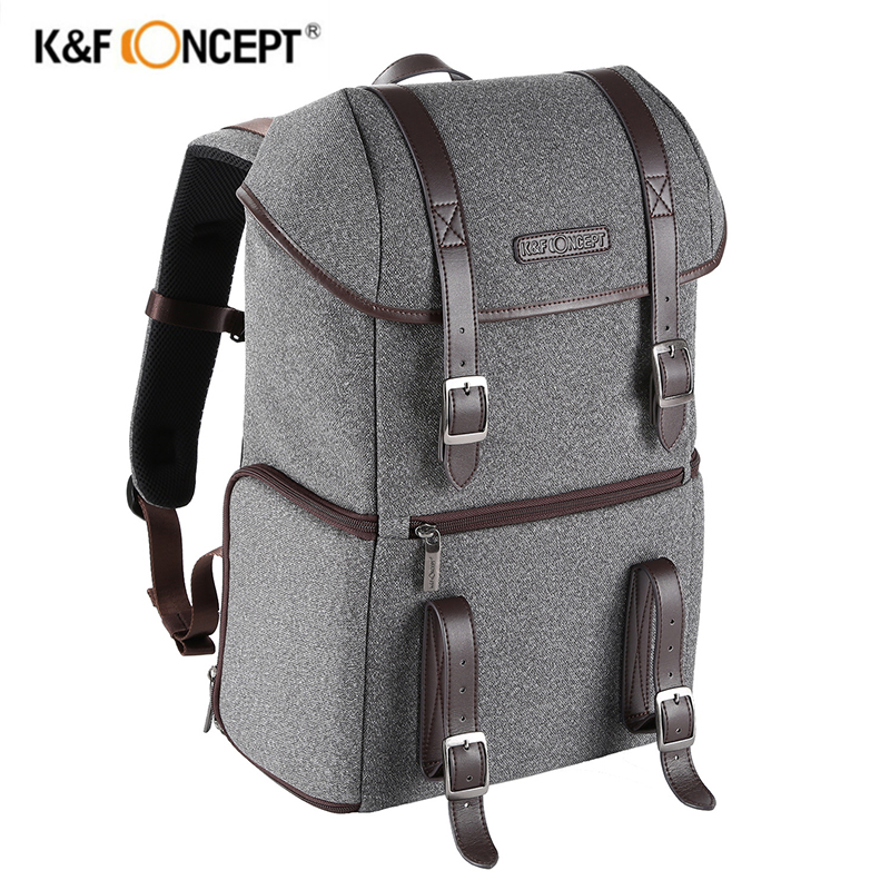 K&F Concept DSLR Camera Backpack Multifunctional Waterproof Nylon Bag Travel Bag with 14 Laptop Tripod For Canon EOS 5Dmarks benro smart 200 nylon waterproof backpack bag for dslr camera