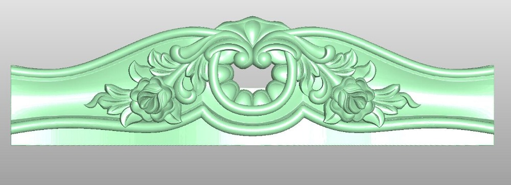 3D Model STL Format File For CNC Router Mill Relief Furniture Sofa Bed Pattern Design 258