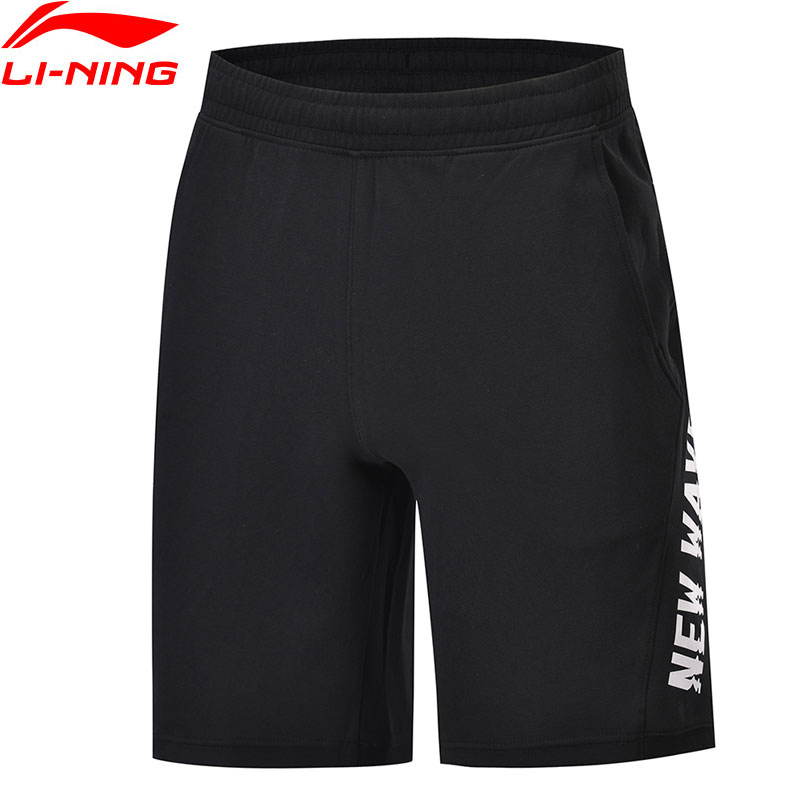 Li Ning Men The Trend Sweat Shorts 87 Cotton 13 Polyester Regular Fit LiNing Breathable Sports