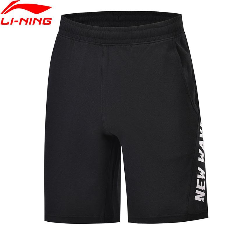 Li Ning の男性トレンド汗ショーツ 87% 綿 13% ポリエステルレギュラーフィットライニング通気性スポーツショーツ AKSP103 MKD1623  グループ上の スポーツ & エンターテイメント からの トレーニング & エクササイズ ショーツ の中 1