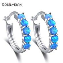 Rolilason круглые серьги для женщин подарок вечеринки Синий