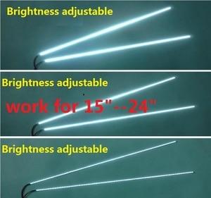 "Image 1 - 1set=7$ 5set=22$ adjustable light LED backlight kit 540mm,work for 15""17""19""22""22 inch 24"",upgrade LCD screen to LED Monitor"