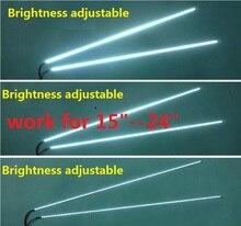 """1set = 7 $5set = 22 $ regolabile luce di retroilluminazione A LED kit 540 millimetri, lavoro per 15 """"17"""" 19 """"22"""" 22 pollici 24 """", aggiornamento schermo LCD per Monitor A LED"""