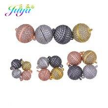 Juya-composants de bijouterie en zircone cubique, bricolage, fermoirs magnétiques à boucle, accessoires pour femmes pour fabrication de bijoux